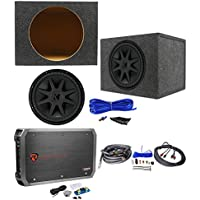 Kicker 44CVX152 CVX 15 2000w Car Subwoofer+Sealed Sub Box+Mono Amplifier+Wires