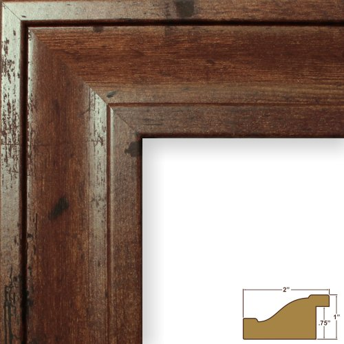 craig frames 76004 13 by 19 inch picture frame smooth finish 2 inch wide distressed walnut brown