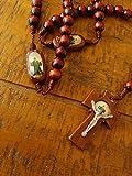 Saint Charbel Makhlouf Wood Hand Crafted Rosary. Rosario De Madera De San Charbel.