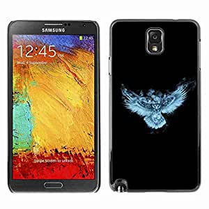 Planetar? ( Glowing Fantasy Night Owl ) Samsung Galaxy Note 3 III / N9000 / N9005hard printing protective cover protector sleeve case