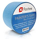 XFasten Professional Blue Painters Tape, Multi-Use, 3 Inches x 60 Yards Masking Tape Blue