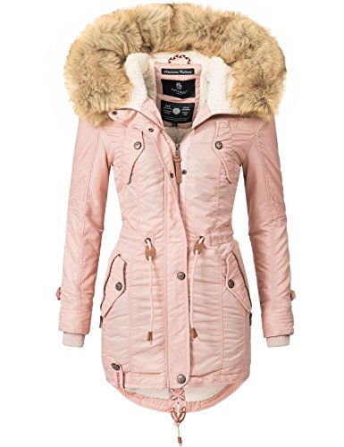 Navahoo Damen Mantel Wintermantel Winterparka La Viva (vegan Hergestellt) 7  Farben + Camouflage XS