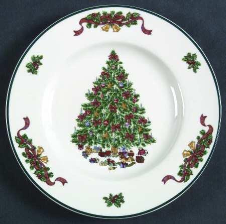 "Johnson Brothers Victorian Christmas (""England 1883"") Salad Plate, Fine China Dinnerware"