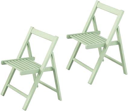 sillas de Comedor Plegables Conjunto de 2 sillas de Mesa de ...