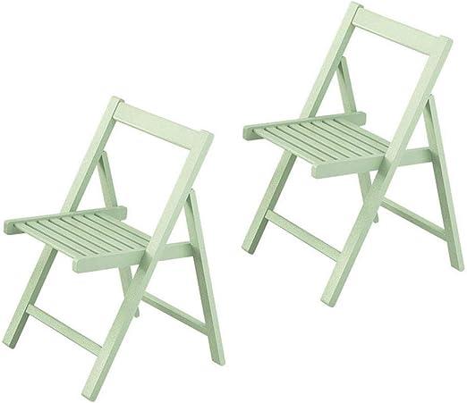sillas de Comedor Plegables Conjunto de 2 sillas de Mesa de Cocina ...