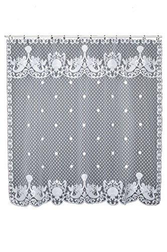 Heritage Lace White MERMAIDS with Shells Shower Curtain