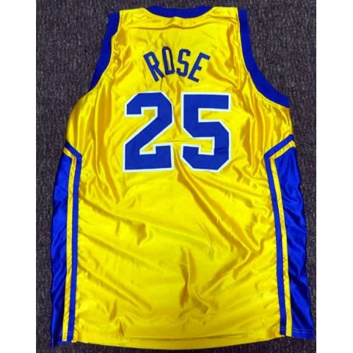 online store e5f2e c17db Simeon High School Derrick Rose Autographed Yellow Jersey ...