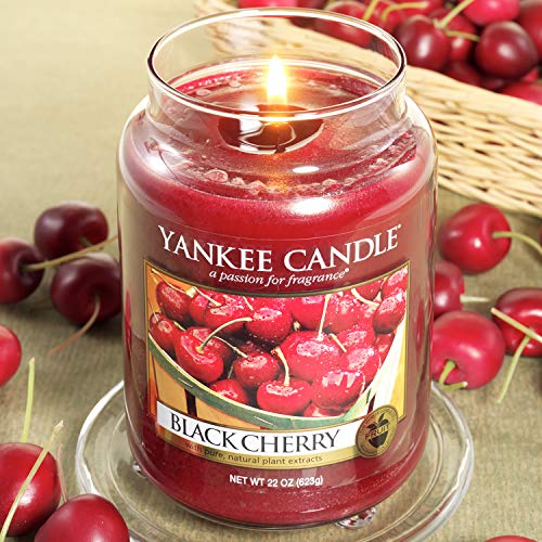Price/'s Candles Large Jar Black Cherry Fragrance NEW 150 Hour Burn Time