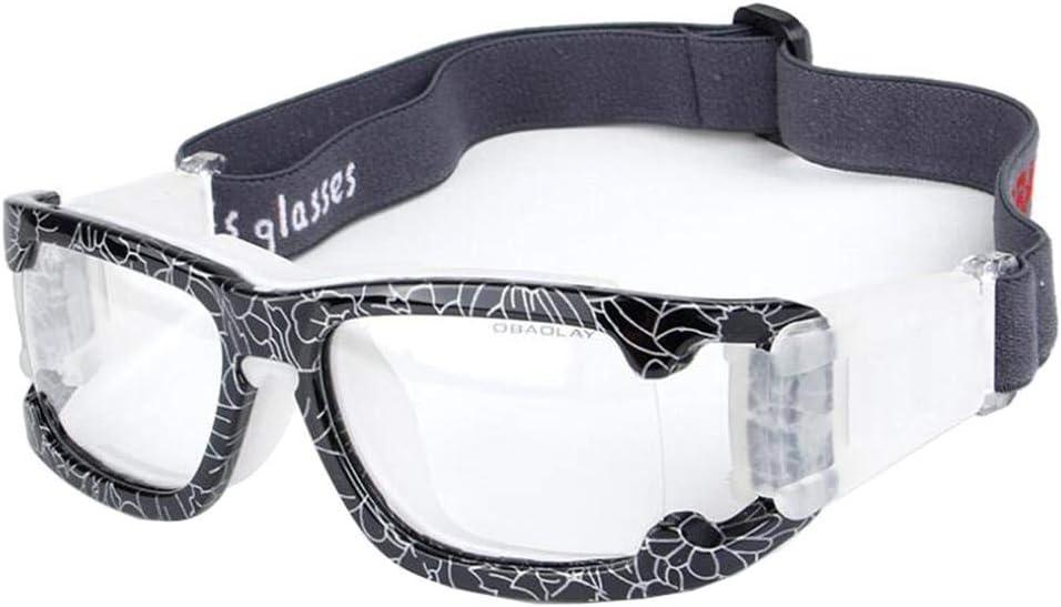 Aeromdale Gafas Deportivas Gafas Protectoras de Seguridad de Baloncesto con Correa Ajustable para Baloncesto Fútbol Voleibol Hockey Fútbol Protector de Gafas Unisex
