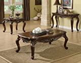 ACME 80064 Remington Coffee Table, Brown Cherry Finish