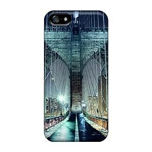 Snap-on Case Designed For Iphone 5/5s- Brooklyn Bridge Walkway