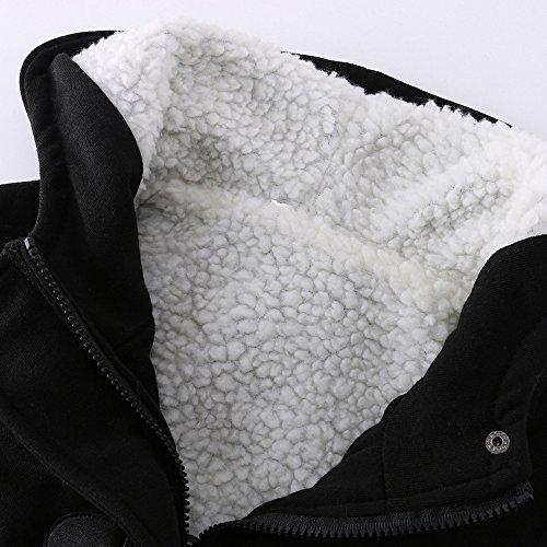 Garder vent Vovotrade® Manteau Chaud Long Occasionnel Noir Manches Outwear Capuchon Femmes Coupe Veste Laine À Longues Tranchée Mince zwzSqnUI1
