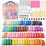 Polymer Clay, DeeCoo 70 Colors 1.2 oz/Block Soft
