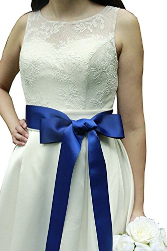Wedding Sash Bridal Belts Simple Classic Silk Ribbon Sash for Dress (Royal Blue) (Sash Silk Bridal)