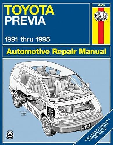 toyota previa van 91 95 haynes repair manuals haynes rh amazon com 1992 Toyota Previa Interior 1992 toyota previa repair manual