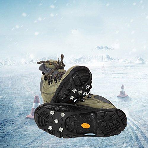 Stretch Cover Steigeisen Rutsch Schnee Wandern Zähne Anti Krallen 5 Stück 2 Eis Griffe Universal Outdoor Schuhe Ski Klettern xwfzq0OX