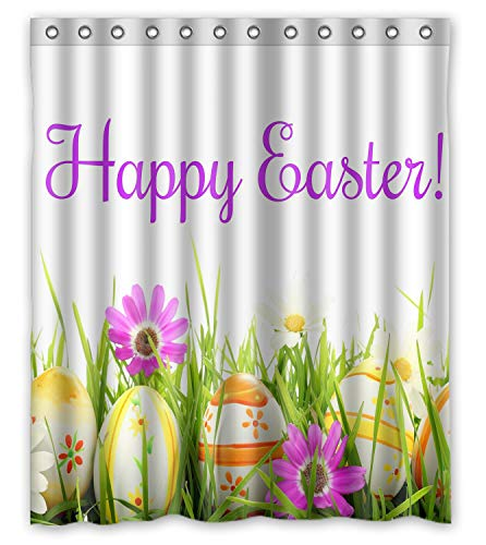 ZHANZZK Happy Easter Waterproof Shower Curtain 60X72 Inches