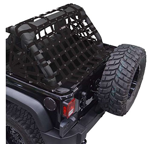 Netting 3pc Kit Spiderweb Sides - for Jeep JKU 4 Door - Black (Dirtydog)