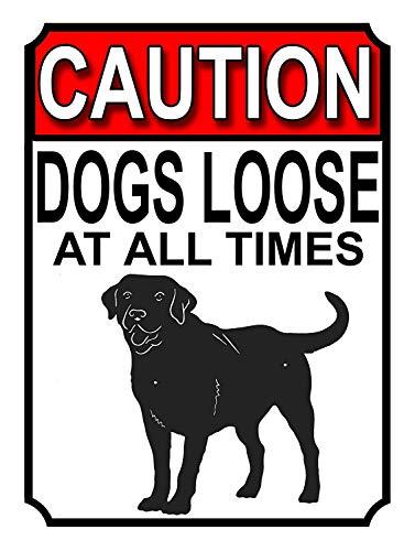 注意犬は常に緩んでいます 金属板ブリキ看板注意サイン情報サイン金属安全サイン警告サイン表示パネル