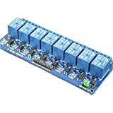 REES52 8CHANNEL 8 Channel 5V Relay Shield Module Board Optocoupler Module for Arduino ARM AVR CN