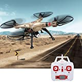 MD Group RC Quadcopter 6-Axis Gyro Syma X8HC 2.4G 4CH Remote Control with 1280p HD Camera