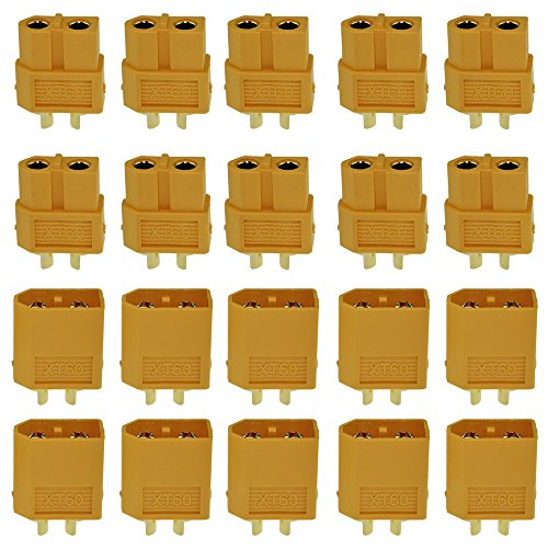 Amass 10 Pair XT60 XT-60 Male Female Bullet Connectors Power Plugs with Heat Shrink for RC Lipo Battery for sale