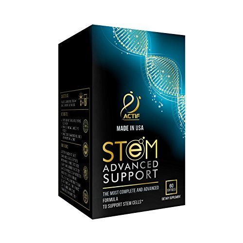ACTIF STEM Cell Support - Maximum Strength with 10+ Stem Cell Factors, Non GMO, 2 Month Supply, Made in USA