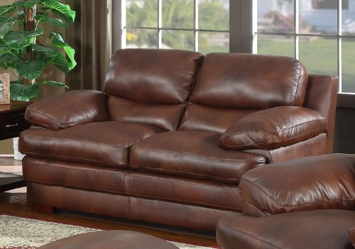 Baron Leather Loveseat by Leather Italia USA