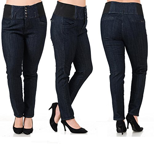 BLA Premium Womens Plus Size Stretch Pregnancy Maternity Black Denim Jeans Pants
