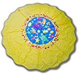 GET HAPPY Sprinkle and Splash Play Mat 67'' Water Toy Outdoor Fun for Toddlers and Kids