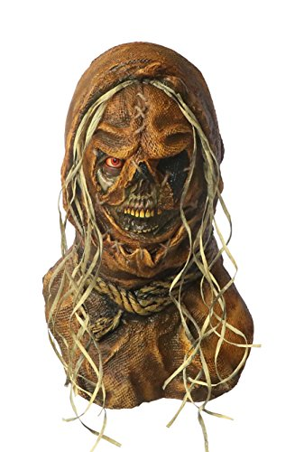 Scary Scarecrow Costumes (NeCrow Creeper Scarecrow Scary Adult Halloween Latex Mask FS011)