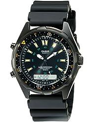 Casio Mens AMW360B-1A1 Black Analog Multi-Function Watch