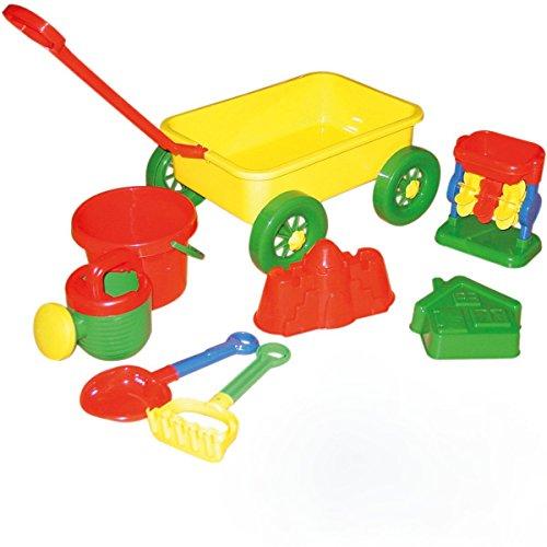 NACHZIEHWAGEN mit Sand Spielzeug für Sandkasten & Strand Strandspielzeug Wagen
