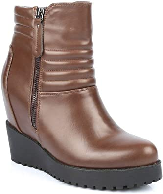 ideal shoes bottines marrons