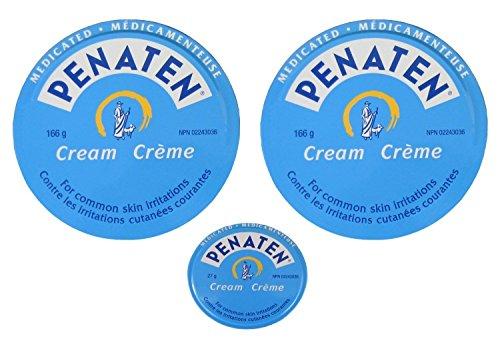 (Penaten Medicated Cream 2x 166g(5.86oz) +27g(0.95oz) Diaper Rash Skin Irritation)