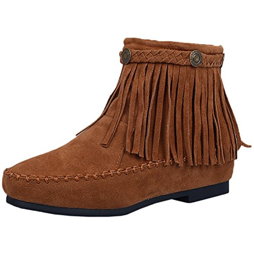 Comfortable By Women Tassel Boots Short Fashion Boots Breathable Casual Yellow Ankle Zipper BIGTREE qwxaT0f
