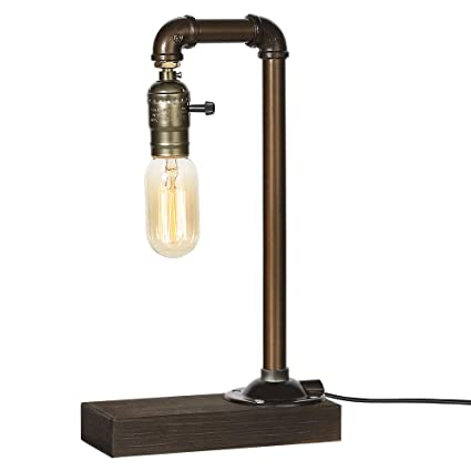 Amazon.com: HAITRAL Retro Vintage Table Lamp- Industrial ...