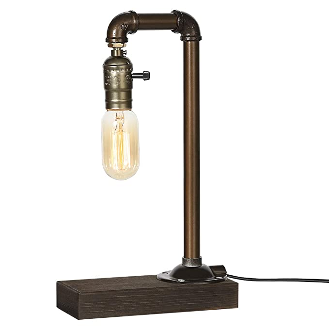 Amazon.com: HAITRAL Retro Vintage Table Lamp- Industrial ...