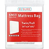 BYSURE 6 Mil Super Thick Mattress Bag Moving & Long Term Storage, Fits Twin/Full Size
