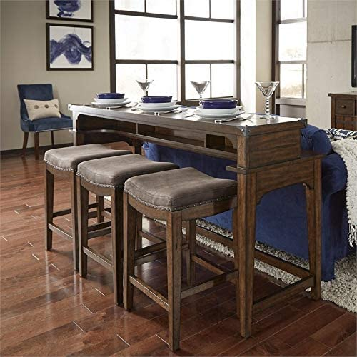 Liberty Furniture Aspen Skies 4 Piece Console Set 1-Console 3-Stools