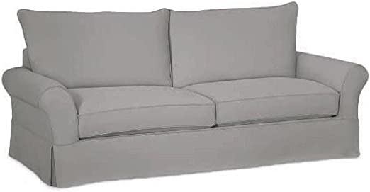 Amazon Com The Cotton Sofa Cover Only Fits Pottery Barn Pb Comfort Grand Roll Arm Sofa A Durable Sofa Slipcover Replacement L Gray Knife Edge Furniture Decor