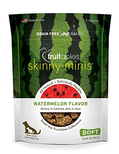 - Fruitables Skinny Minis Grain Free Soft Dog Treats Watermelon Flavor 5 Oz