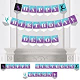 Big Dot of Happiness Personalized Must Dance to the Beat - Dance - Custom Birthday Party Bunting Banner & Decorations - Happy Birthday Custom Name Banner