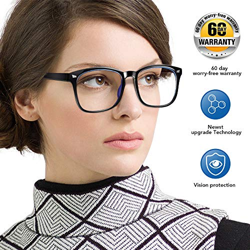 Eosneik Blue Light Blocking Glasses for Men Women, Anti Blue Light Computer Reading Gaming Glasses, Anti Eyestrain UV Filter Lens Lightweight Frame Eyeglasses