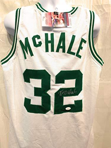 b097841f8 Kevin McHale Boston Celtics Signed Autograph Custom White Jersey JSA  Witnessed Certified