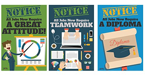 Official Notice Job Skills Set of Eight Mini-Posters