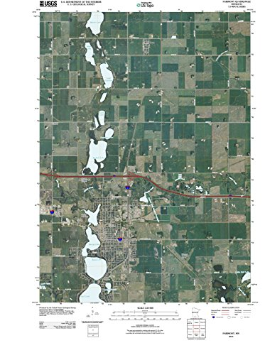 Minnesota Maps   2010 Fairmont, MN USGS Historical Topographic   Cartography Wall Art   33in x 44in