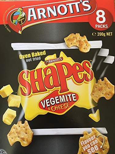 Arnott's Shapes, Vegemite & Cheese, 8 Pack (Cheese Biscuits Best)