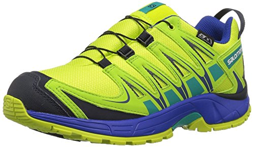 XA Pro 3D CSWP J Trail Running Shoe, Acid Lime, 6 M US Big Kid (Salomon Xa Pro Shoe)
