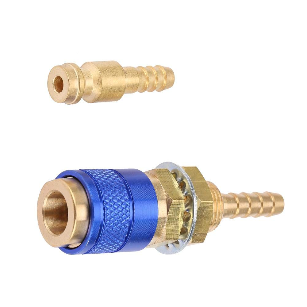 M6 Schnellkupplungsset Schnellk/ühler f/ür wassergek/ühlten Gasanschluss f/ür MIG WIG-Schwei/ßbrenner f/ür Schwei/ßbrenner Blau